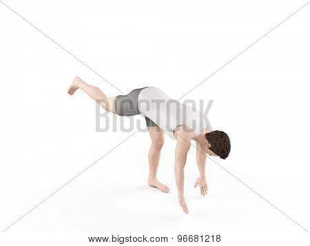 exercise illustration - one leg drop