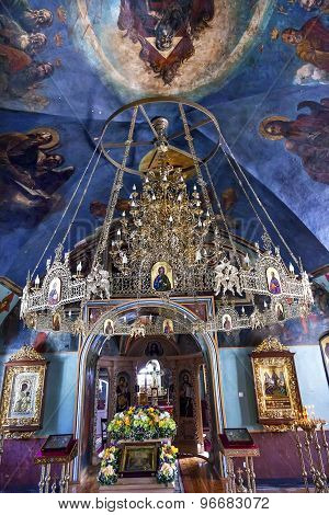 Ancient Chandelier Rectory Saint Michael Vydubytsky Monastery Kiev Ukraine