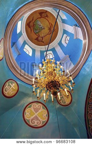 Ancient Basilica Dome Mikhaylovsky Church Vydubytsky Monastery Kiev Ukraine