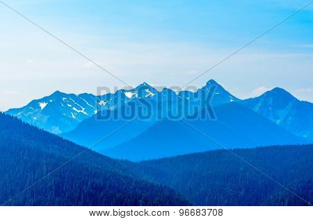 Rocky Mountains. Coastal Mountains. Blackwall Peak trail in Manning Park. British Columbia. Canada.