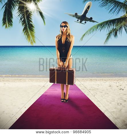 Holiday  of rich tourist