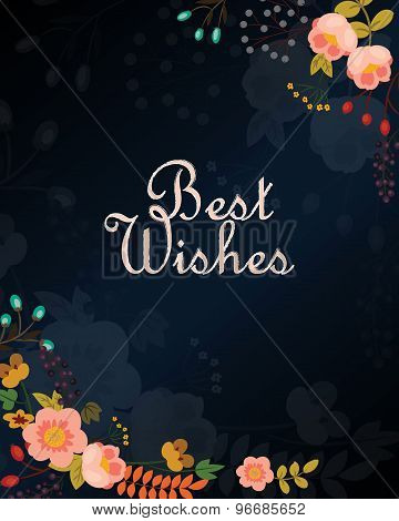 Best wishes vector card
