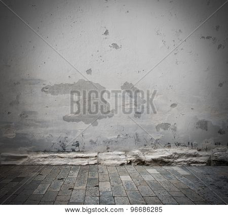 Damaged wall background