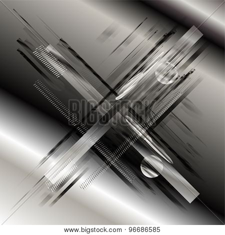 Abstract stripe line technology grey background