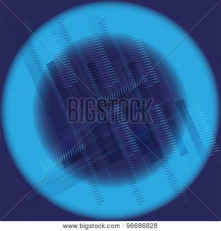 Abstract technology round blue background