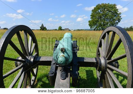 Old cannon in Manassas National Battlefield Park, Virginia.