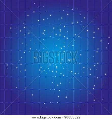 Blue Dots grid background vector