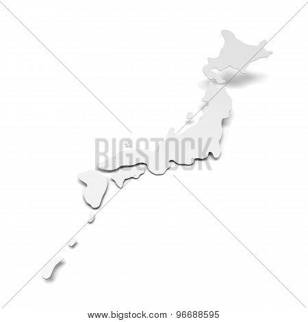 Paper map of Japan