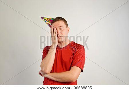Party man closeup portrait