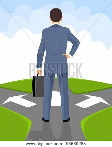 Businessman Makes A Decision