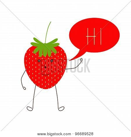 Strawberry With Speech Bubble