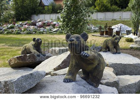 the sculpture bears