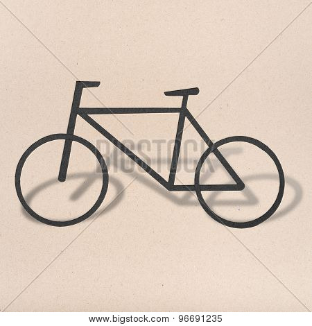 Bicycle Icon Sign Symbol Logo On Paper Background