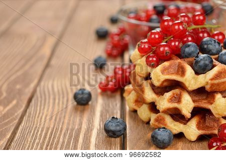 Liege Waffles With Berries