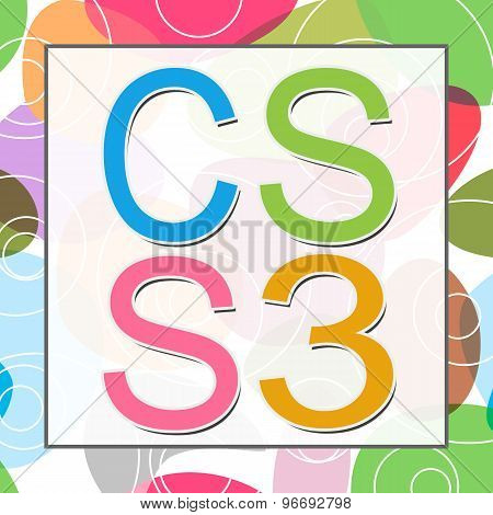 CSS 3 Abstract Colorful Text