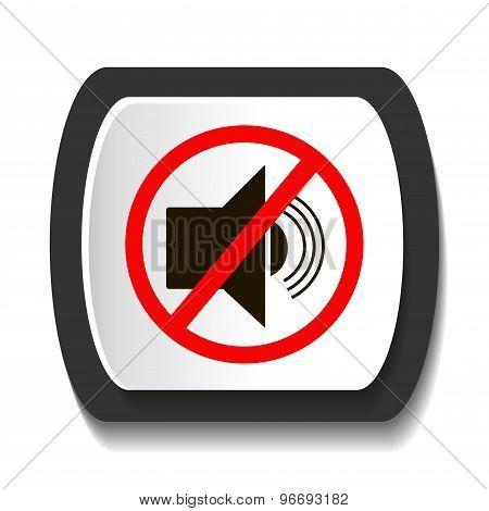 Vector icon with symbol prohibits radiosound