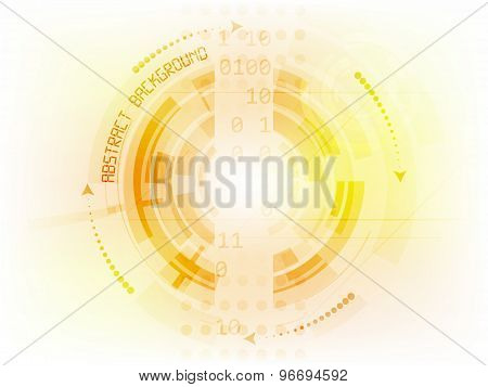 Abstract future technology vector background
