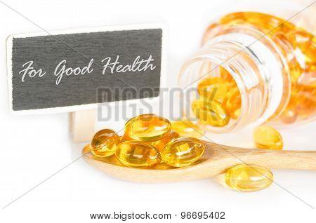 Cod Liver Oil Omega 3 Gel Capsules.