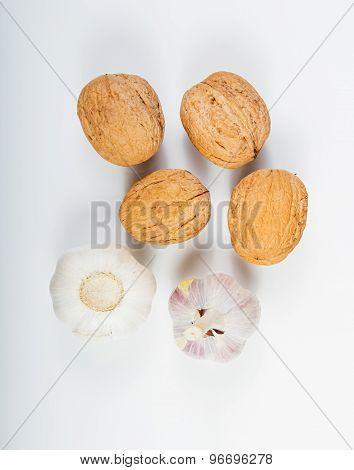 Walnuts And Organic Garlic .