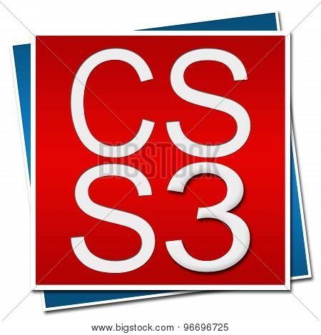 CSS 3 Red Blue Background