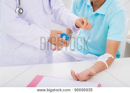 Changing bandage