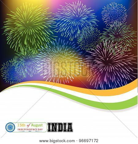 15th of August celebration concept with ashoka wheel