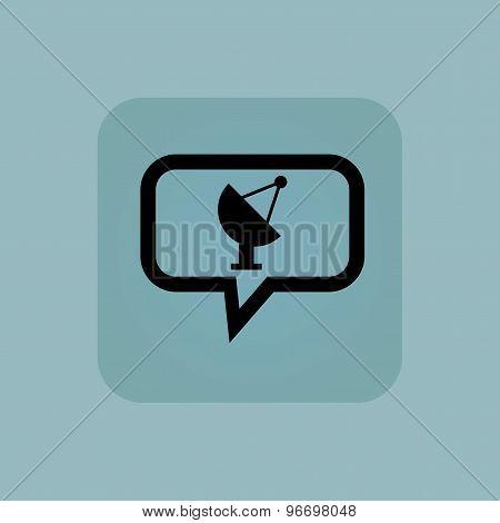 Pale blue satellite dish message