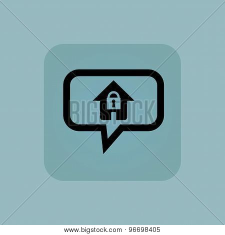 Pale blue locked house message