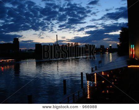 River Spree At Night