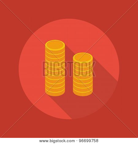 Business Flat Icon. Coin