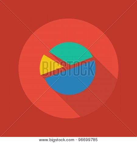 Business Flat Icon. Pie Chart