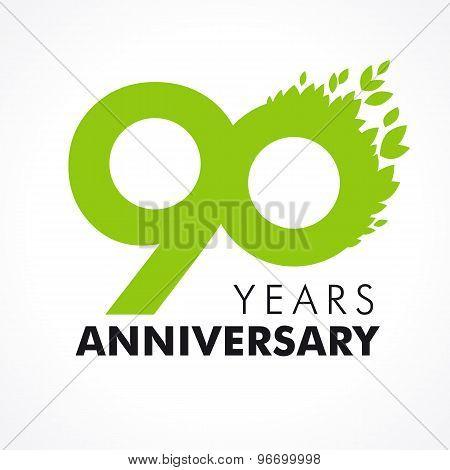 90 anniversary leaves logo