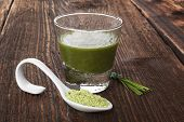 foto of chlorella  - Spirulina chlorella barley and wheatgrass - JPG