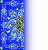 pic of gem  - illustration background with gold pattern round gems copy space - JPG