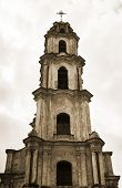 Abandoned Church, Bell-tower In Vilnius Old City Center