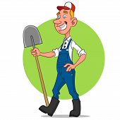 picture of caricatures  - farmer - JPG