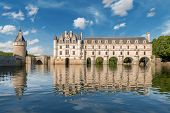 Постер, плакат: Chenonceau castle built over the Cher river Loire Valley France