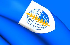 picture of south east asia  - 3D Flag of South East Asia Treaty Organization - JPG