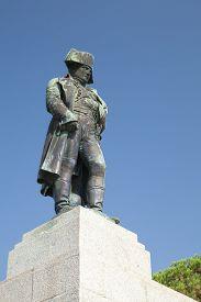 pic of bonaparte  - Statue of Napoleon Bonaparte as First imperator of France Ajaccio island of Corsica - JPG