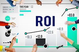 stock photo of analysis  - Roi Return On Investment Analysis Finance Concept - JPG