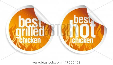 Best hot chicken stickers set.