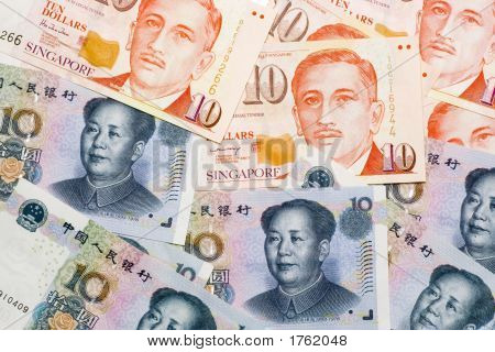 Chinese And Singapore Currencies