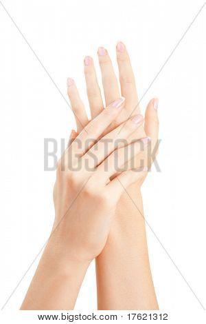 Pflege für Sinnlichkeit Frau Hände