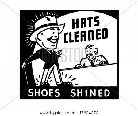 Chapéus limpados - Ad Retro arte Banner