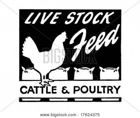 Live Stock Feed - Retro Ad Art Banner