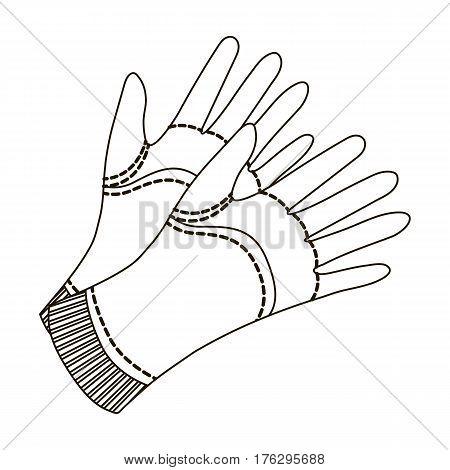Garden gloves to work with the land in the garden