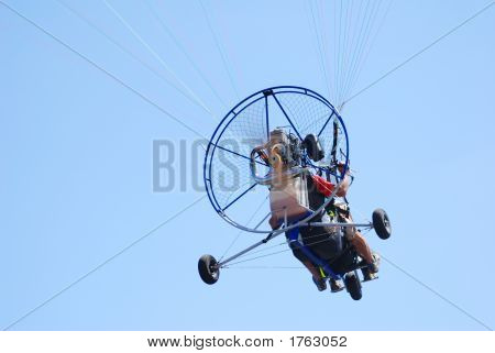 Powered Tandem Paraglider Rear View