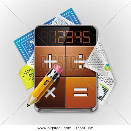 Vector calculator XXL detailed icon