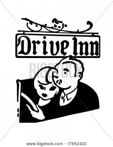 Drive Inn - Retro Ad Art Banner