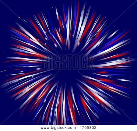 Firework On Blue Background